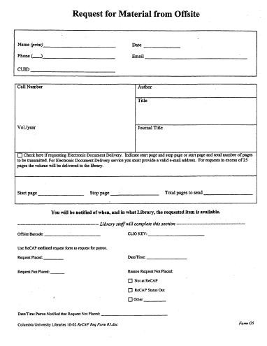 Mediated Request Form (Form O5)