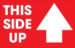 """This Side Up"" Stickers"