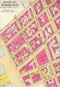 West Village, 1890s. Atlas of the City of New York. 3rd ed. New York: E. Robinson, 1890-1893. (Avery AA735 N4 R56 FF)