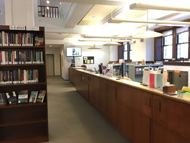 Level L1 (Ground floor) of the Burke Library.