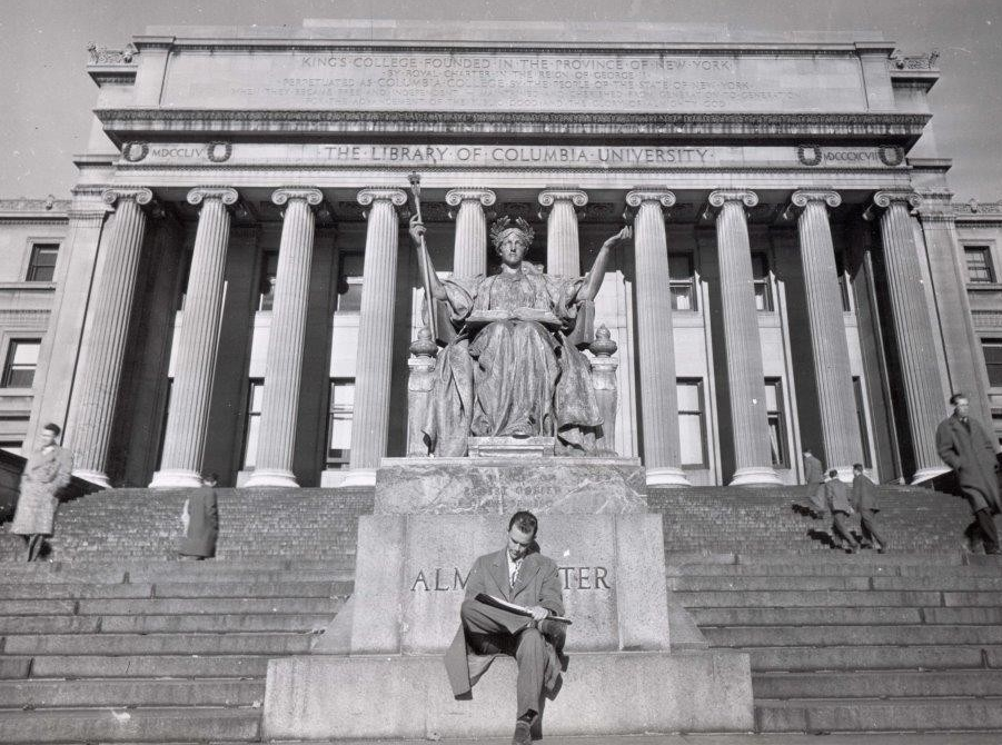 Alma Mater in front of Low Library