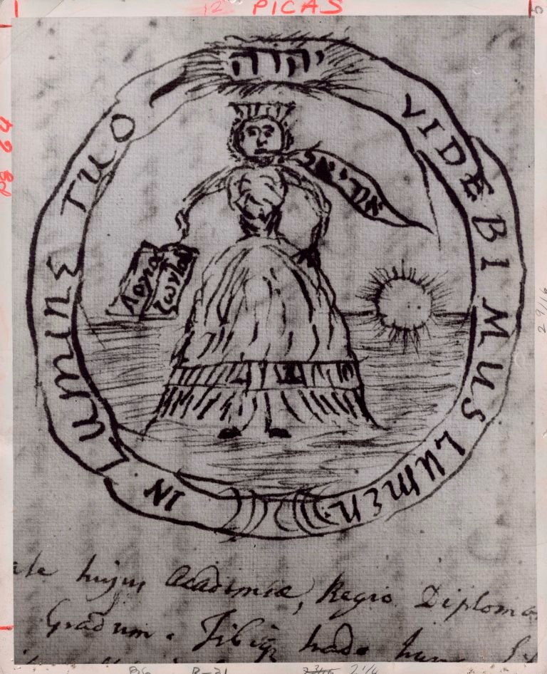 Original drawing of King's College Seal