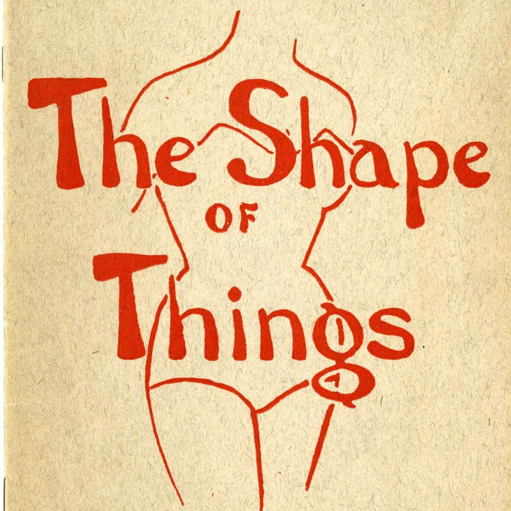 The Shape of Things program cover