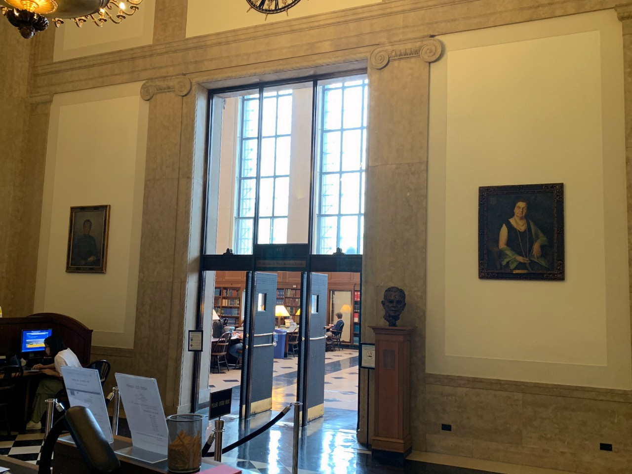 Two new portraits in Butler Library_Hu Shih
