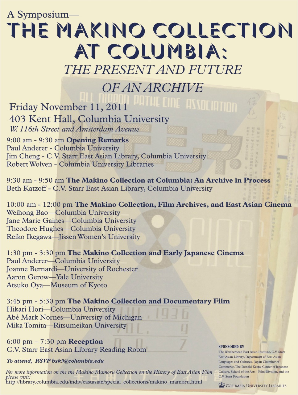 Symposium - The Makino Collection at Columbia
