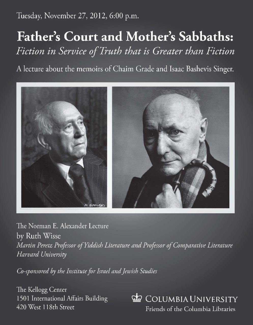 Alexander Lecture 2012 - Poster