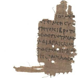 Homer Papyrus Fragment