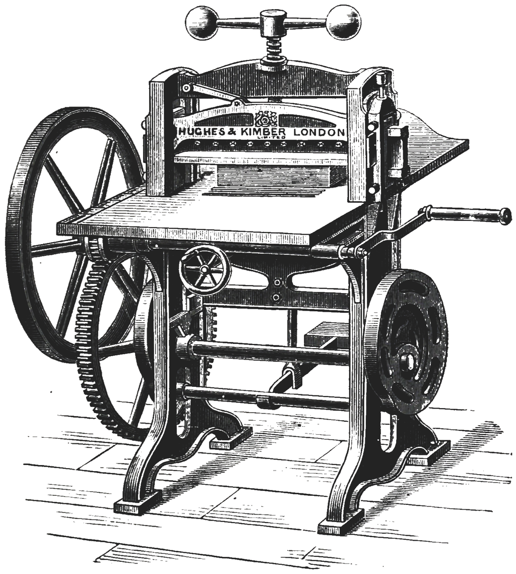 Art_of_Bookbinding_p097_Cutting_Machine