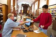 Helping a Patron at the East Asian Library
